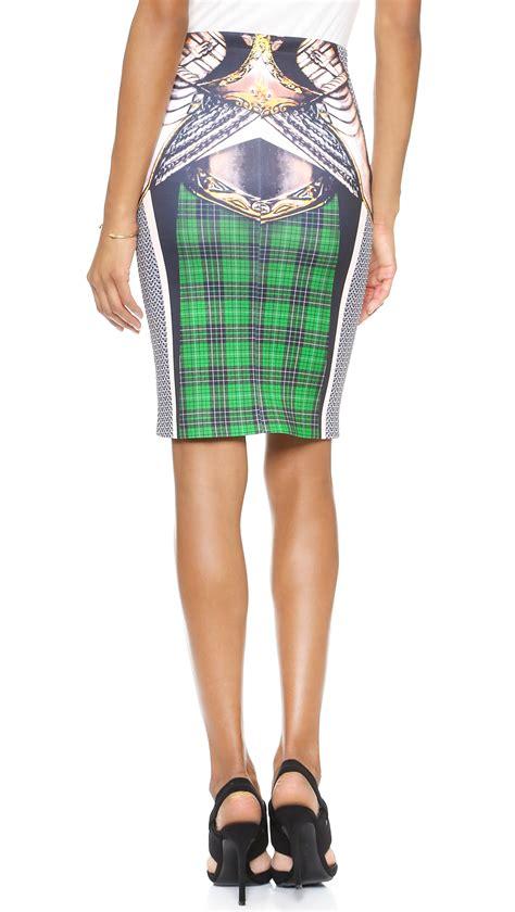 Clover Clothing Skirt Set Flozana 1 lyst clover magic armor fitted skirt multi
