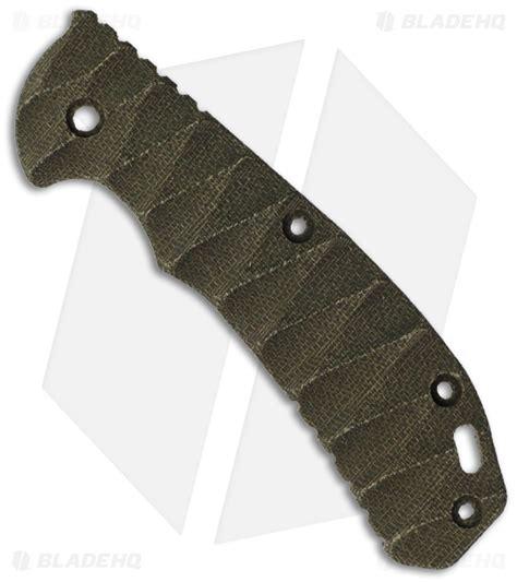 zt 0561 custom scales zero tolerance 0560 od green canvas micarta replacement