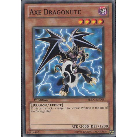 how to make yugioh cards at home yu gi oh card sddc en008 axe dragonute