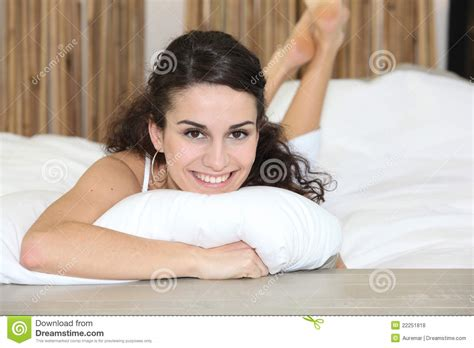 In Bed by Laying In Bed Royalty Free Stock Photos Image