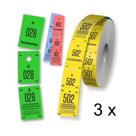printable cloakroom tickets cloakroom tickets and coat check ticket rolls thre parts