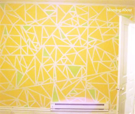 triangle pattern wall moming about diy triangles on textured walls