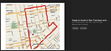 san francisco map areas to avoid in san francisco a walking tour of the tenderloin
