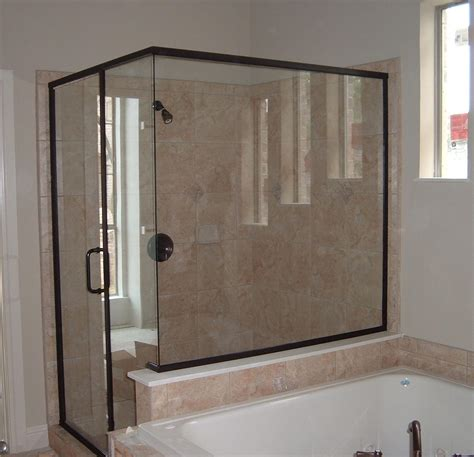 bathroom doors with glass gallery