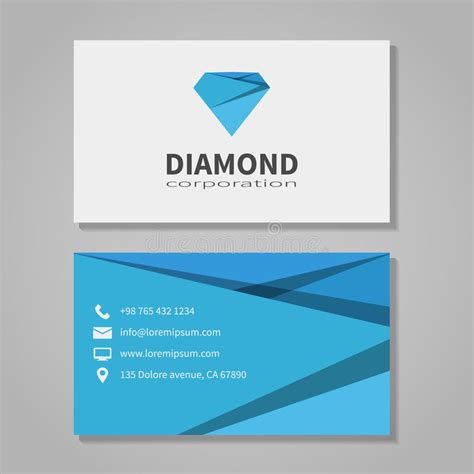 office business card template free corporation business card template stock vector