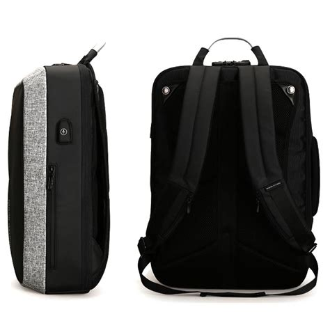 Tas Anti Maling Anti Thelypteridaceae Backpack ryden tas ransel anti maling dengan usb charger port mr6832 gray black