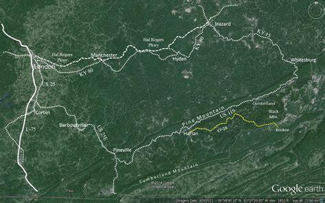 justified kentucky map motorcycle ride from harlan kentucky to keokee virginia