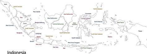 printable peta indonesia image gallery outline map of indonesia