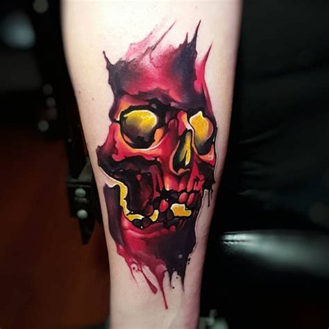 watercolor tattoo skull literally the best 65 skull tattoos in history tattoomagz