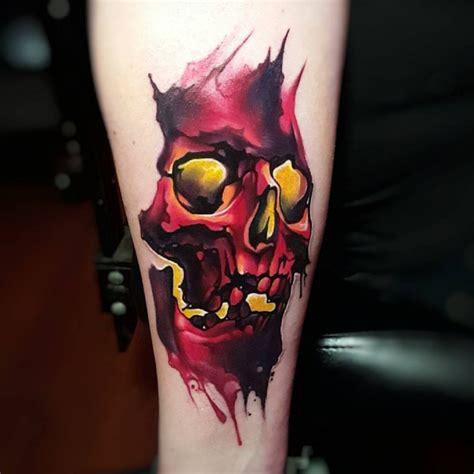 watercolor skull tattoo literally the best 65 skull tattoos in history tattoomagz