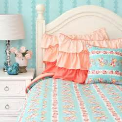 home design coral colored toddler bedding inspired on