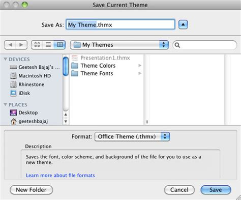 themes excel mac saving themes in powerpoint word and excel 2011 for mac