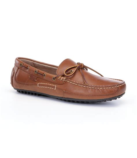polo ralph wyndings slip on loafers polo ralph wyndings loafers in brown for lyst