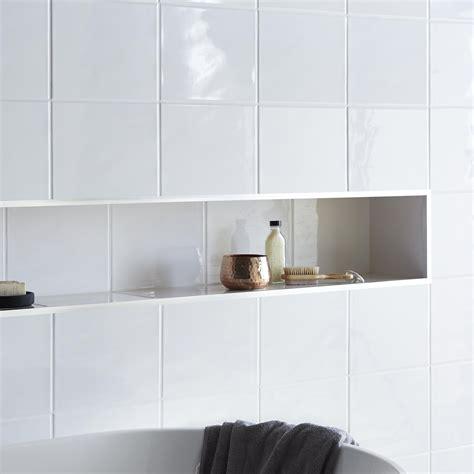 holborn white ceramic wall tile pack   lmm