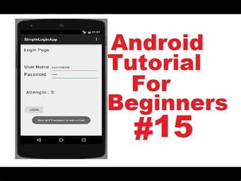 tutorial login android studio android studio tutorial login and register part 3