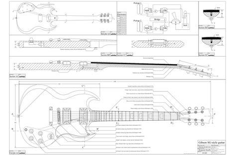 gibson sg template gibson sg custom guitar templates electric herald