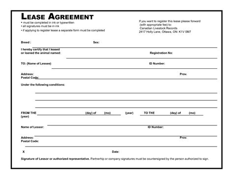 39 Excellent Rental Lease And Agreement Template Exles Thogati Lease Template