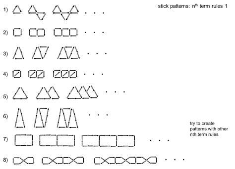pattern rule shapes median don steward mathematics teaching nth term patterns