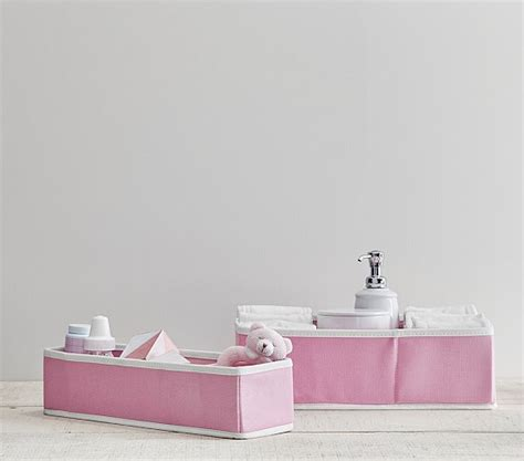 canvas for pottery table light pink canvas changing table storage pottery barn