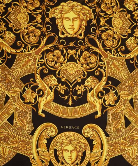 Gold Versace Pattern | versace yellow black and gold silk scarf silk scarves
