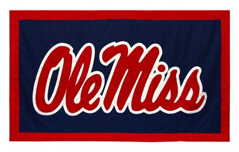 ole miss colors applique conference and team banners for collegiate