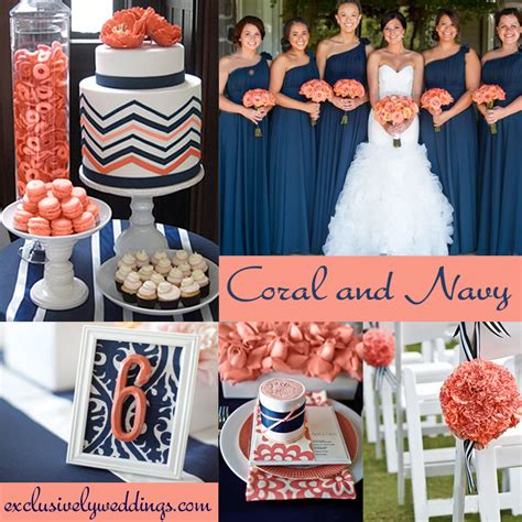 navy blue and coral wedding coral wedding color combination options you don t want