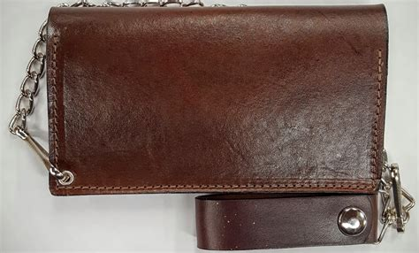 Handmade Leather Wallets Made In Usa - fisherman leather wallet with chain handmade leather