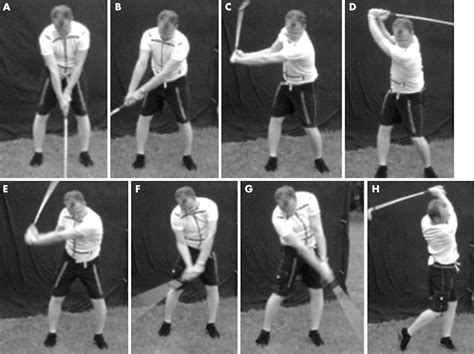golf swing phases muscle activity during the golf swing british journal of