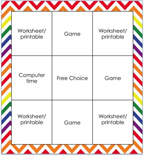 choice board template template for creating your own choice board the choice