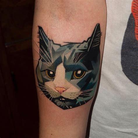 animal tattoo cat 25 melhores ideias sobre geometric cat tattoo no