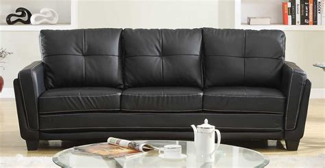 ave six pacific loveseat black vinyl sofa avenue six pacific loveseat faux leather