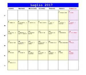 Calendario 2018 Da Stare Pdf Calendario Luglio 2017 Pdf Solleone Sciame Meteoritico