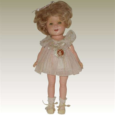 shirley temple composition doll 13 13 quot composition shirley temple doll with original tagged