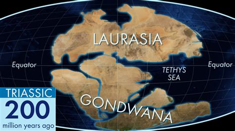 ancient land blob gondwana  todays