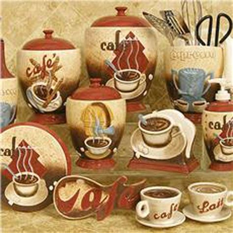 coffee themed kitchen canisters coffee decor for kitchen to obtain the country sense