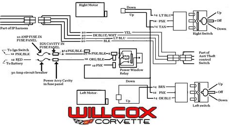 75 corvette power window wiring diagram wiring diagram