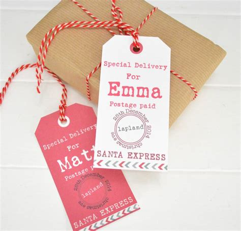 christmas personalised gift tags by tilliemint loves