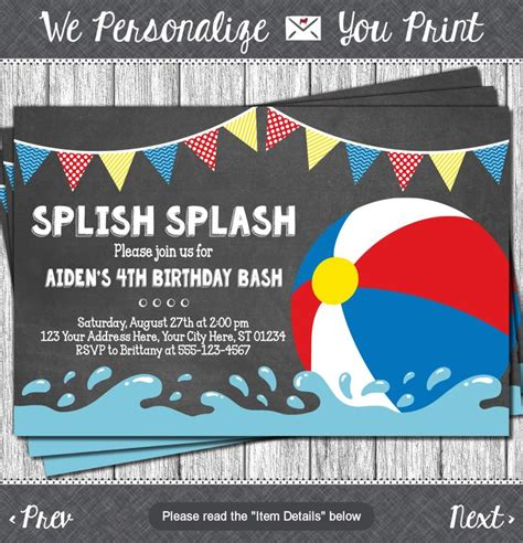 21 pool party invitations free psd vector ai eps format