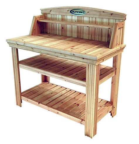 Suncast Cedar Potting Bench Suncast Pt4500 Cedar Potting Bench