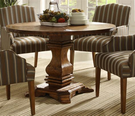 Homelegance Dining Table Homelegance Casual Pedestal Dining Set Rustic Oak D2516nc 48