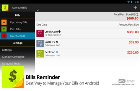 manage my android bills reminder best way to manage your bills on android aw center