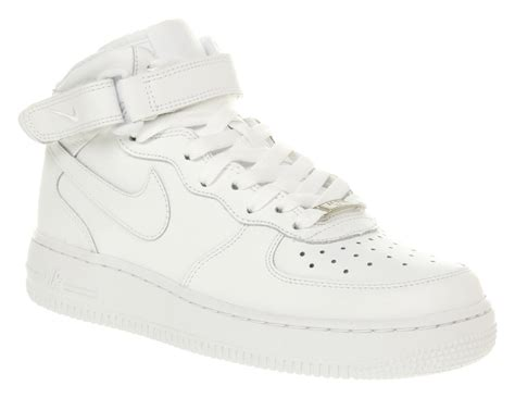 womens nike air 1 all white trainer shoes