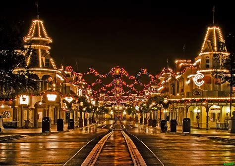 a tranquil christmas on main street usa walt disney