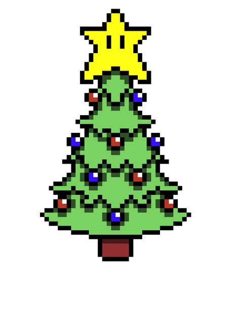 mario christmas tree pixel art maker