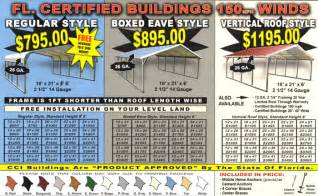 Metal Carport Cost Buy Carports In Florida And Save Alan S Factory Outlet