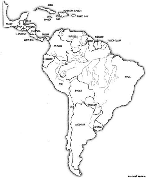coloring page map of central america free central america map coloring pages