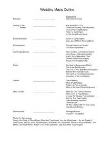 program outline template best photos of wedding ceremony program outline template