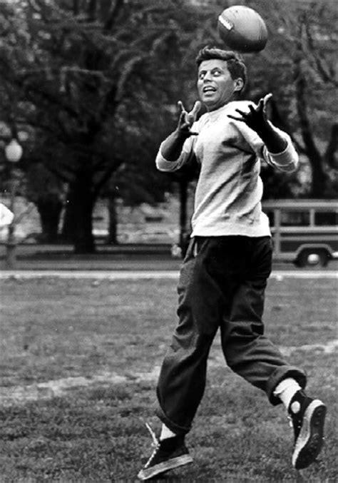 JFK John F. Kennedy football Stanford touch family