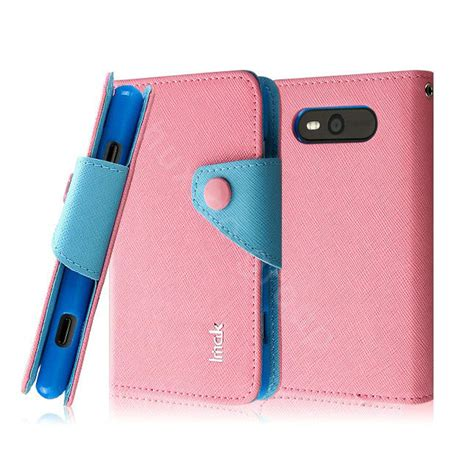 Imak Leathercase Lumia 929930 Pink buy wholesale imak cross leather button holster holder cover for nokia lumia 820 pink