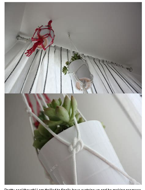 How To Make Plant Hangers With Rope - musely